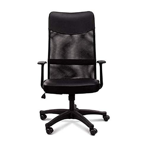 ZXN RTU Relax - Silla de oficina cómoda y segura, silla giratoria para el hogar y la oficina, respaldo alto, silla ejecutiva de malla para reposacabezas