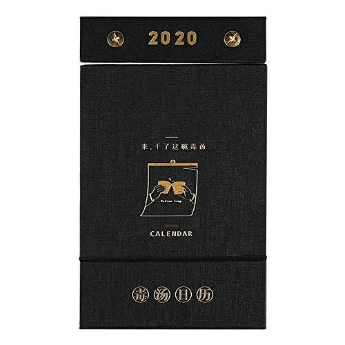 ZSLLO 2020 Agenda van de balie 365 dagen Nieuwjaarskalender Versnipperde Een-weg Bureau Kalender Desktop Decoratie Gift