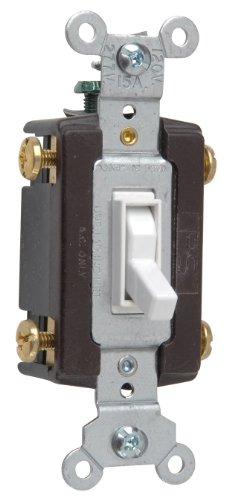 Legrand-Pass & Seymour 664WGCC12 Four Way Toggle Grounding Switch 15-Amp 120-volt, White