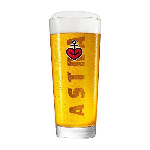 ASTRA Frankonia Becher, 6er Gläser-Set - 0,5 Liter, Biergläser mit Herzanker, unterschiedliche Größen für den Bier-Genuss, als Hamburg Souvenir & Geschenk