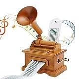 Carillon Scatola Musicale Scatola di musica in legno grammofono scatola di musica vintage mano...