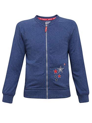 Jockey Jacket (UG05_Girls Blue Melange_5-6 Years)