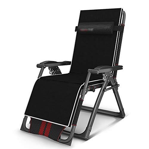 ZHongWei-- Liegestuhl 160 Grad Liegen Tragbarer Stuhl Im Freien Liegestuhl Strandkorb Haushalt Einzel Freizeitstuhl, Schwarz