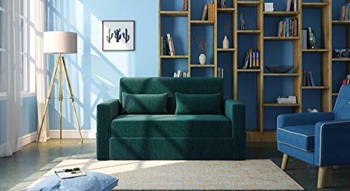 Urban Ladder Camden Compact Sofa Cum Bed (Colour : Malibu Blue)