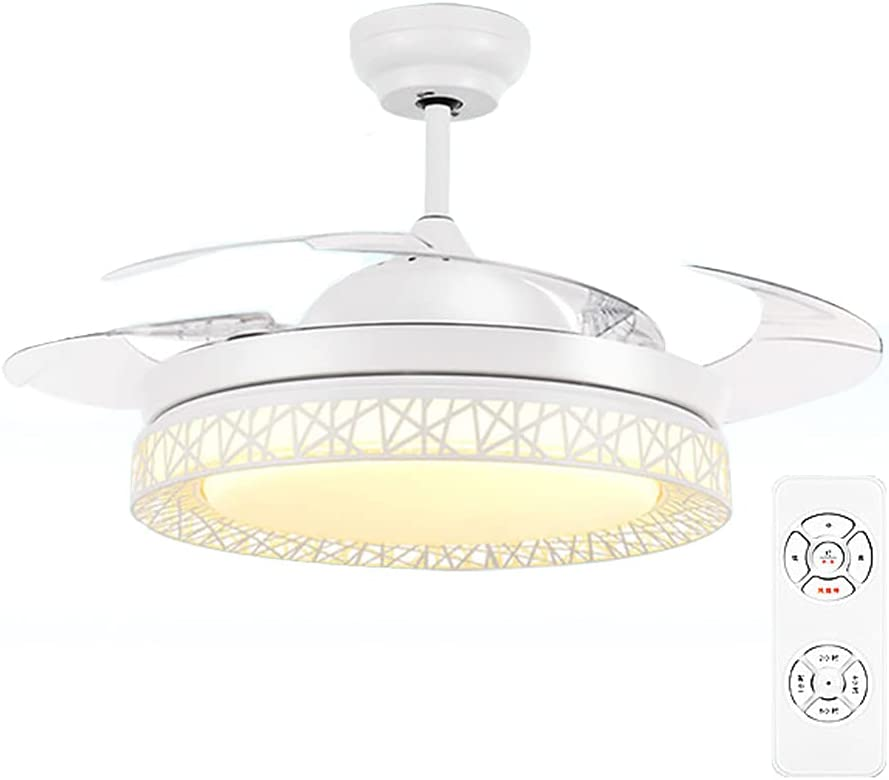 Ventilador De Techo LED De 55-62 Pulgadas Con Control Remoto, Atenuador Integrado, Kit De Luz, Dormitorio, Sala De Estar, Comedor,Bluetooth,4.6ft