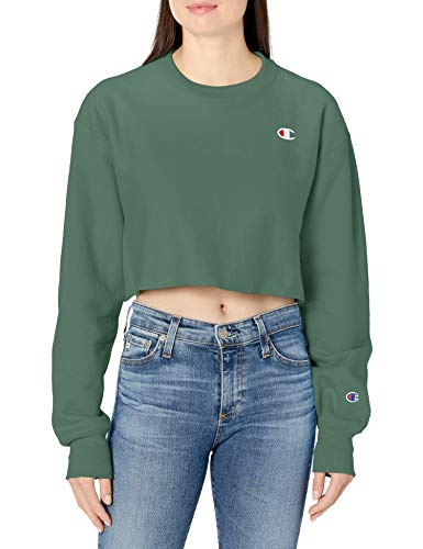 Champion LIFE Women's Crop, Thermal Green, Small