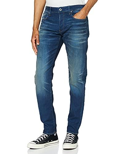 G-STAR RAW Herren 3301 Slim Fit Jeans, Blau (Worker Blue Faded A088-A888), 32W / 34L