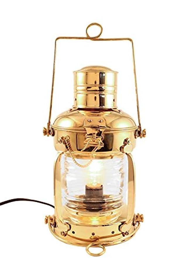 毒液キモい主婦バーモント州Lanterns?–?Electric Nautical真鍮アンカーランプ 12