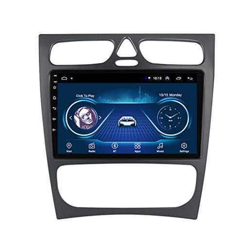Dscam Car Stereo Android 9.1 Cuatro núcleos Coche Autoradio GPS Navegación para Benz C Class W203 W209 | 9 Pulgada | Pantalla LCD Táctil | USB | WLAN,2G+32G-Eight-Core