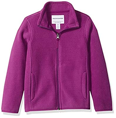 Amazon Essentials Girl's Full-Zip Polar Fleece Jacket, Plum Purple, X-Large