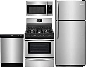 Frigidaire 4 Pcs Stainless Steel Kitchen Package with FFTR1821TS 30