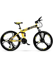 Novokart-Sports Pliables/vélo de Montagne 24/26 Pouces 3 Roue de Coupe, Jaune