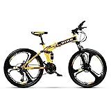 Novokart-Plegable Deportes/Bicicleta de montaña 26 Pulgadas 3 Cortador, Amarillo
