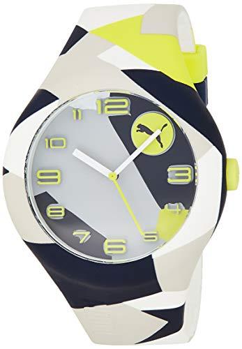 PUMA Unisex Erwachsene Analog Quarz Smart Watch Armbanduhr mit Silikon Armband PU103211033