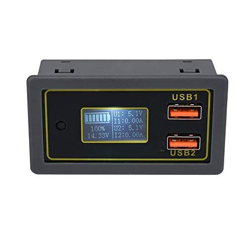 JJBHD Electronic Accessoires & Supplies DC 6-30V bis 5V Stromzähler Autospannung 12V24V Batterie-Blei-Säure-Batterie bis 5V Dual USB-Fast Ladestrom-Anzeige Um Ihnen die Qualität der Exzellenz bereitzu