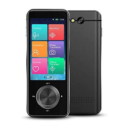 Dispositivo de traducción de idiomas, 107 idiomas, dispositivos de traducción sin conexión portátiles instantáneos bidireccionales, traductor de voz con pantalla táctil HD WiFi/Hotspot