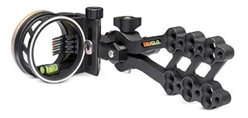 TRUGLO HYPER-STRIKE Ultra-Light Long Range Bow Sight, DDP 7-Pin, Black
