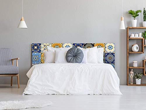 Cabecero Cama Pegasus Azulejos 200x60cm | Disponible en Varias Medidas | Cabecero Ligero, Elegante, Resistente y Económico