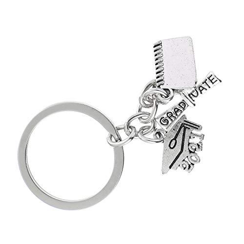 WINOMO 2021 llavero anillo de graduación regalo clave colgante para bolsa de coche mochila bolso encanto llavero adorno recuerdo