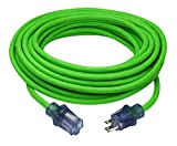 Prime Wire & Cable NS512830 Flex 12/3 SJTW High-Visibility Extreme Cold Weather Outdoor Extension Cord, 50 Feet, Neon Green