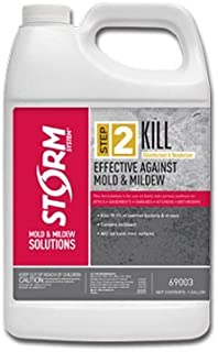 Storm System - Step 2 Kill - 1 Gallon Powerful EPA Registered Disinfectant Deodorizer That Kills Mold & Mildew - Zero VOC Chemistry Odor Kill Carpet Stain Remover