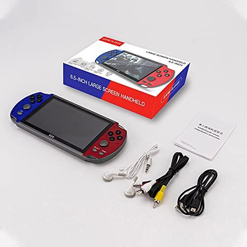 X16 6.5 pulgadas Handheld Game Console,Dual Joystick 8GB 6.5'' pantalla LCD,Reproductor de videojuegos clásico retro portátil,Para GBA jugadores de juegos de mano Arcade jugadores de juego de mano