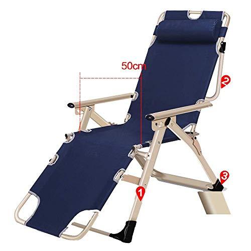 YLCJ Opvouwbare ligbed multifunctionele ligstoel verstelbare zwaartekracht nul lunch alle kantoor draagbare zonnebank patio stoel patio stoel (kleur: B) A
