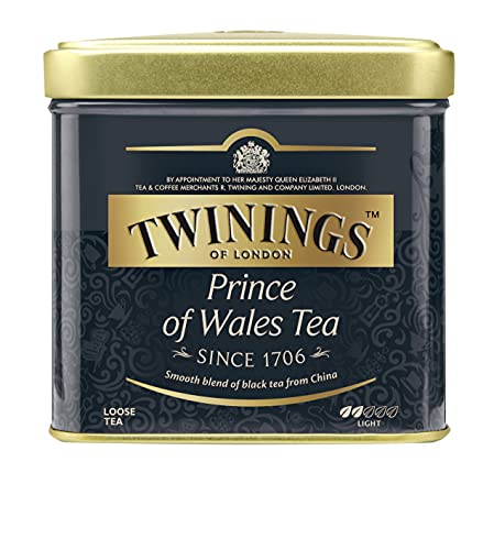 Twinings Prince of Wales - Schwarzer Tee im Teebeutel - zarter Schwarztee mit fruchtigem Geschmack des Keemum-Tees und einen Hauch des blumigen Oolong-Tees, 100 g