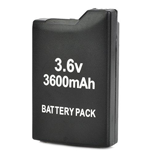 3.6V 3600mAh Li-ion Rechargeable Backup Battery for PSP 1000, Black