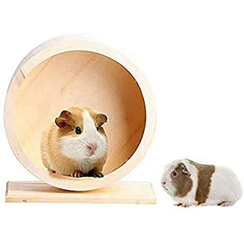 ZGHYBD Wooden Roller Hamster Running Exercise Wheel Mouse Hedgehog Sports Pet Toy, Wooden Exercise Wheel Interactive Natural Roller Wheel Toy, for Hamsters Gerbils Or Other Small Animals 15cm