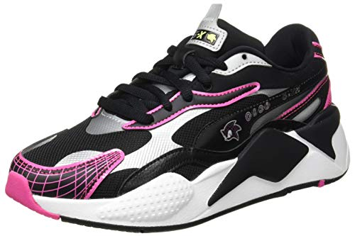 PUMA SEGA RS-X³ Jr Sneaker, Glowing Pink Black, 38.5 EU