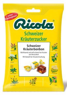 Ricola Kräuter Original, Schweizer Kräuterbonbons, ohne Zucker - 75gr - 4x