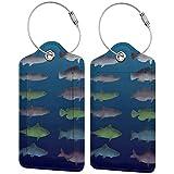 Etiquetas de equipaje de pescado gratis para maleta de equipaje de mano, con correas ajustables para viajes y negocios, juego de 2