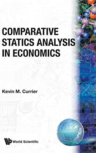 COMPARATIVE STATICS ANALYSIS IN ECONOMICS ✅