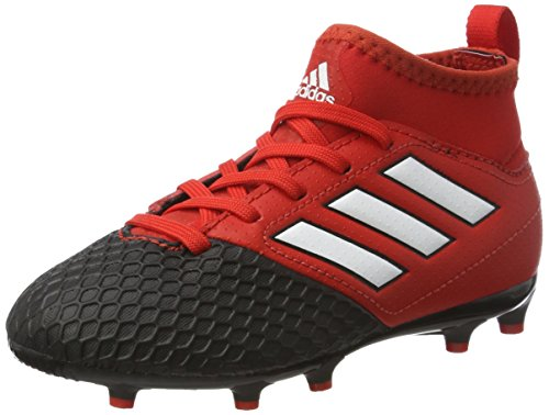 adidas Unisex Kids' Ace 17.3 FG Football Boots, Red (Red/FTWR White/core Black), 2/3 UK 35 EU