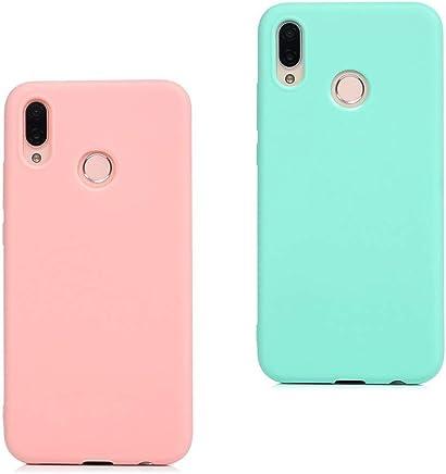 eb2de8ac3b9 EuCase 2X Funda Huawei P Smart 2019 Silicona Carcasa Huawei P Smart 2019  Antigolpes Suave TPU