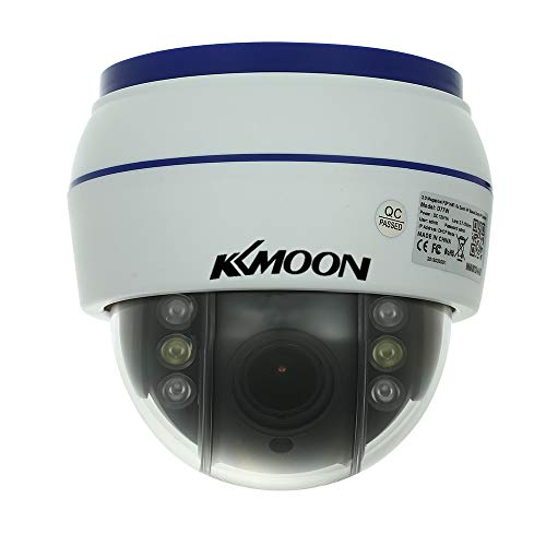 KKmoon Cámara IP PTZ HD 1080P Cámara Dome WiFi Inalámbrico 2.8-12mm Enfoque Automático Soporte P2P Phone App Cámara Vigilancia de Seguridad con Ranura para Tarjeta (Tarjeta TF no Incluida)