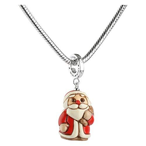 THUN  - Charm 'Special icon' Babbo Natale - Ceramica -