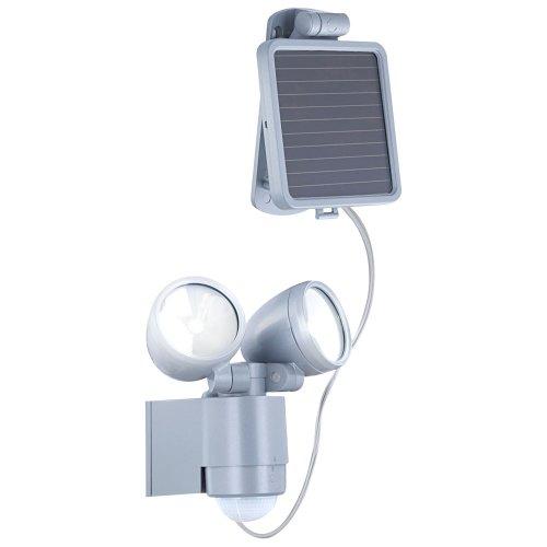 Buitenlamp op zonne-energie, zilver, lamp inclusief 4 x led van 0, 5 W. 3715S
