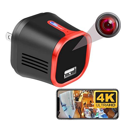 MCSTREE 4K Wireless Security Hidden Camera,USB Charger Indoor Spy...