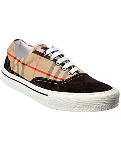 BURBERRY Herren Sneaker aus Stoff und Gummi 45005333326 Check Beige, Beige Check - Größe: 42 EU