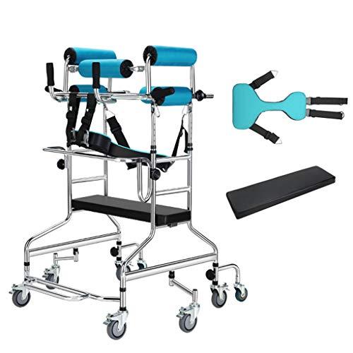 ZZR Carritos médicos Andador Ligero para discapacitados, Andador antivuelco antivuelco con Ajuste de Ancho de Altura, Andador con 8 Ruedas Redondas Andador para Adultos