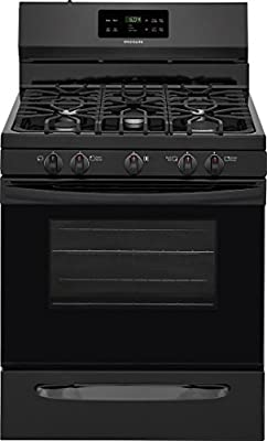 Frigidaire FFGF3054TB 30 Inch Freestanding Gas Range with 5 Sealed Burner Cooktop in Black