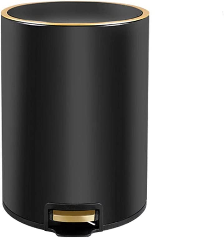 Outlet Max 59% OFF SALE KGDC Trash Can Wastebasket Round Steel Stainless Capacity Step T