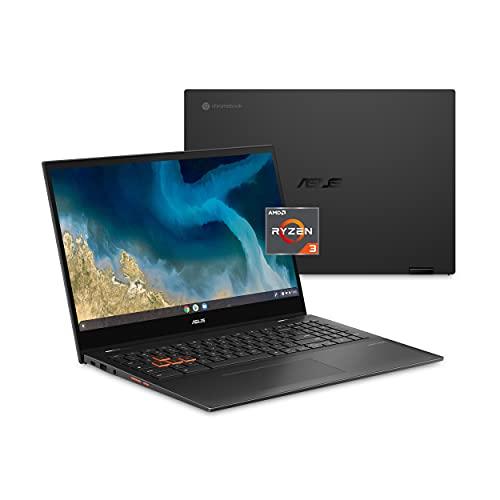 "ASUS Chromebook Flip CM5, 15.6"" Touchscreen Full HD NanoEdge Display, AMD Ryzen 3 3250C Processor, 64GB eMMC, 4GB RAM, Backlit Keyboard, Wi-Fi 6, Chrome OS, Aluminum, Mineral Gray, CM5500FDA-DS344T"