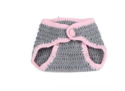 Happy little sheep Ensemble déguisement pour bébé avec Bonnet et Petit Pantalon en Tricot Gris, Laine, Grey,ç°è‰², 20x10cm