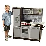 KidKraft- Cocina de juguete de madera, con luces, sonidos y máquina de hielo, montaje EZ...