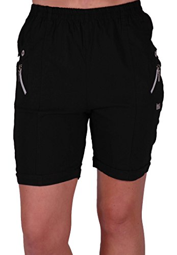 EyeCatch - Damen Entspannte Komfort Elasticized Flexi Stretch Damen Shorts Mollige