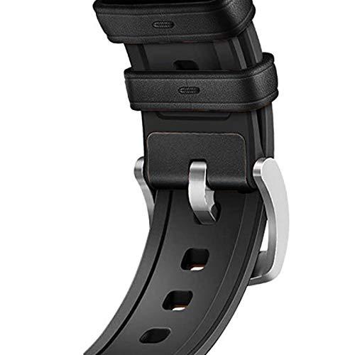 YGGFA De Silicona Correa de Cuero for el Reloj de la Banda de Apple de 40 mm de IWatch Band 38mm 42mm 44mm Correa de Reloj Pulsera for la Serie de Apple Seguir 5 4 3 2 1