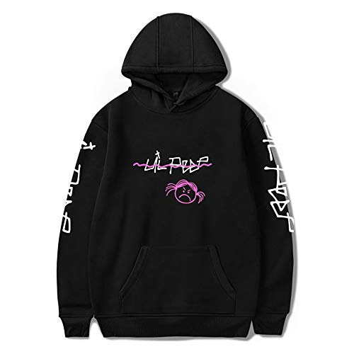 Unisex Lil_Peep Zip Up Street Hip Hop tamaño Suelto Hoodies Jumper Pullover Sweatshirt Long Sleeve Sweaters